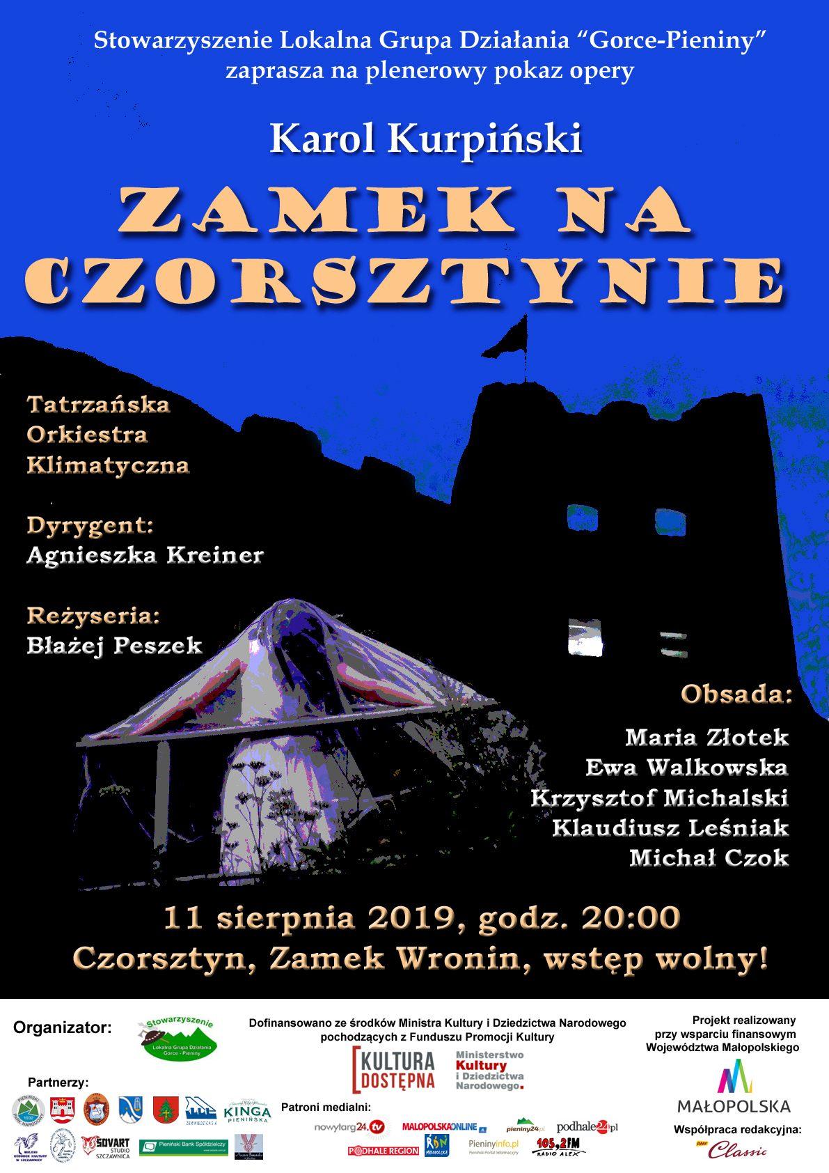 Plakat opery na zamku w Czorsztynie