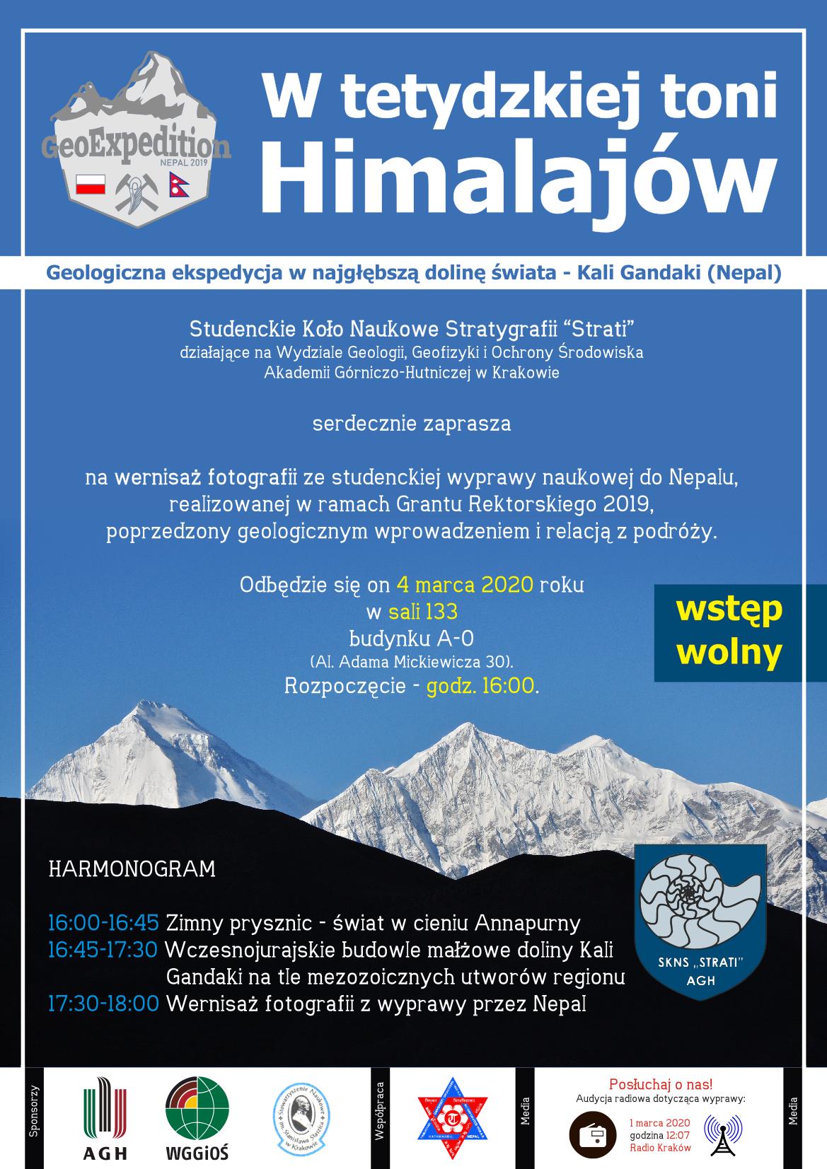 w tetydzkiej toni Himalajów - plakat, zaproszenie