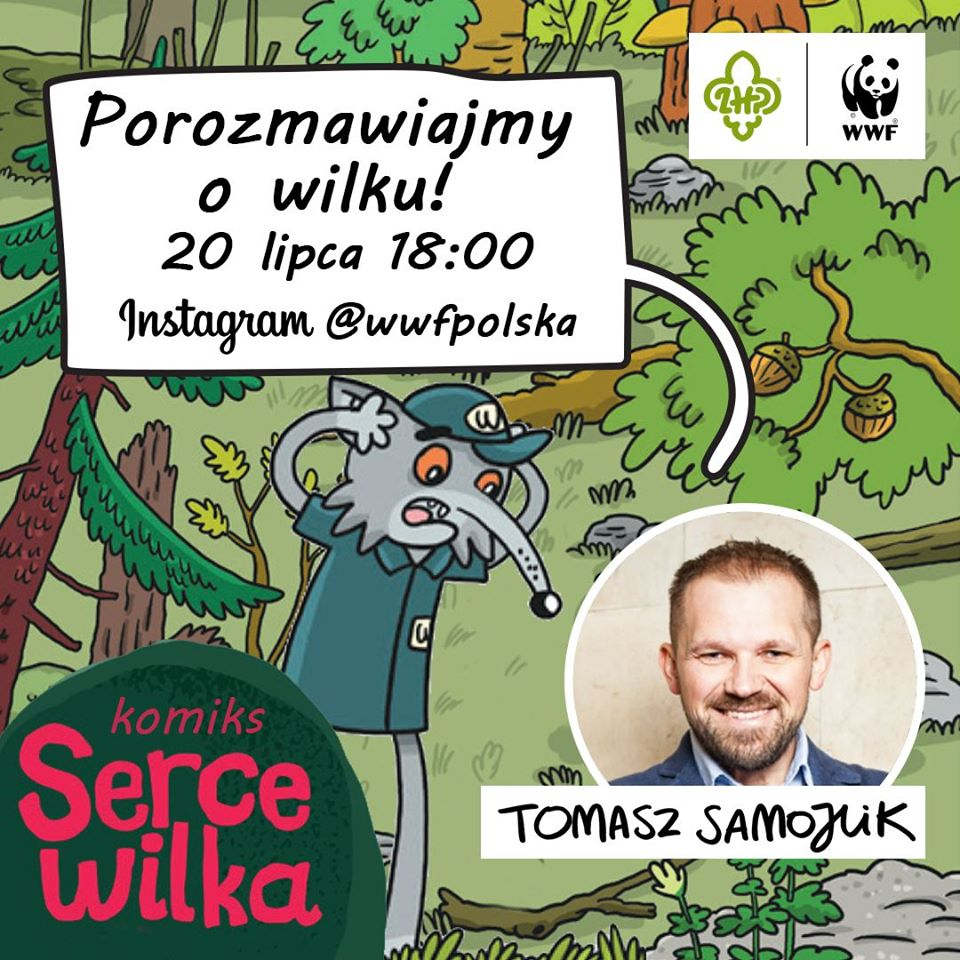 plakat wydarzenia WWF o wilku mowa